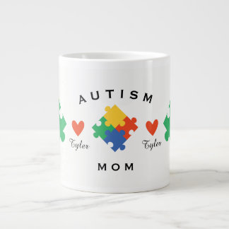 Personalized Autism Mom Large Coffee Mug