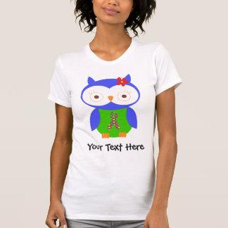 Personalized Autism Ribbon Owl T Shirt