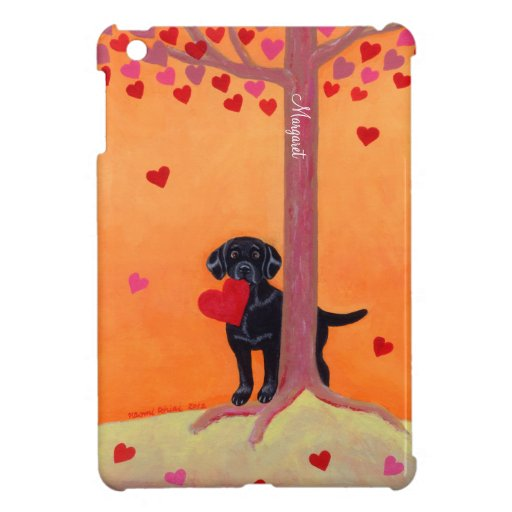 Personalized Autumn Color Black Labrador Case For The iPad Mini