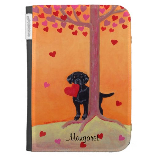 Personalized Autumn Color Black Labrador Kindle Keyboard Covers