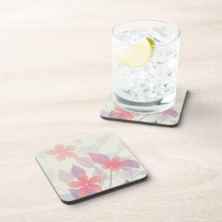 Personalized Autumn leaves on Green Coaster