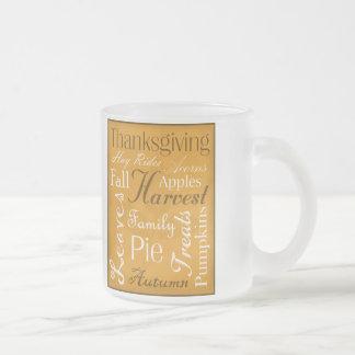 Personalized Autumn Word Art Coffee Mug - Fall