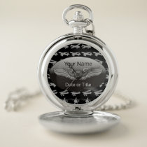 Personalized Aviation Wings Aircraft Pocket Watch