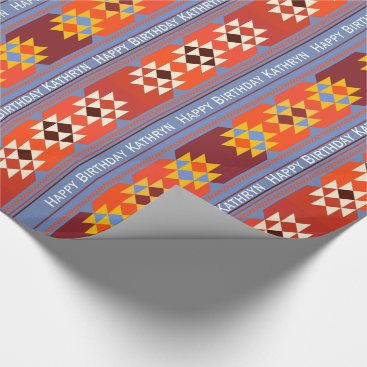 Aztec Themed Personalized Aztec Any Occasion Wrapping Paper