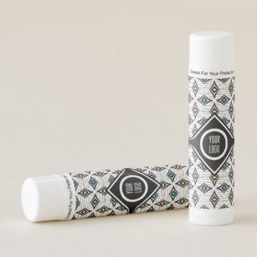 Aztec Themed Personalized aztec boho diamond design lip balm