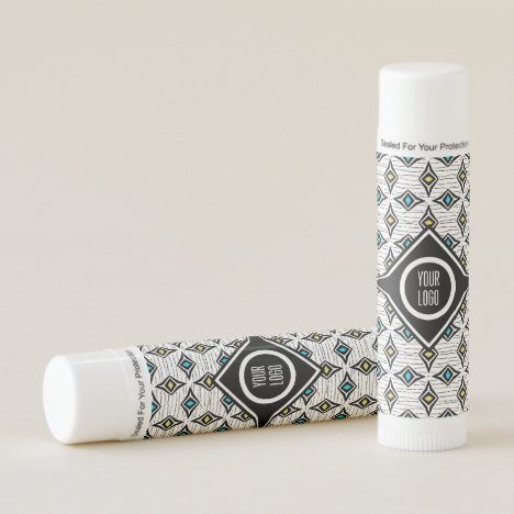 Personalized aztec boho diamond design lip balm