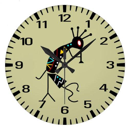 Personalized Aztec Southwest Kokopelli Design Clock