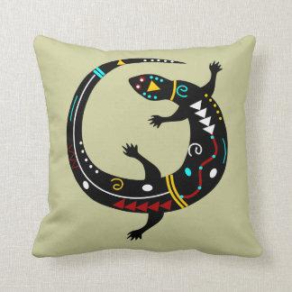 Personalized Aztec Southwest Tribal Lizard Design Throw Pillow