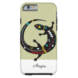 Personalized Aztec Southwest Tribal Lizard Design Tough iPhone 6 Case