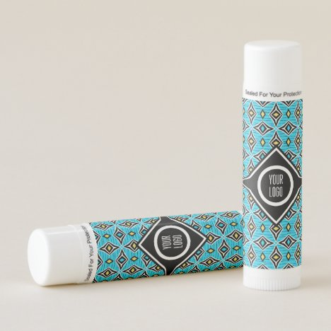 Personalized aztec tribal diamond design lip balm