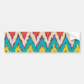 Personalized Aztec Tribal Ziz Zag Pattern Gifts Bumper Stickers