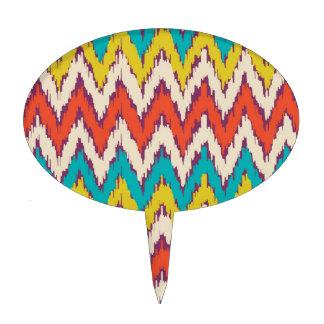 Personalized Aztec Tribal Ziz Zag Pattern Gifts Cake Topper