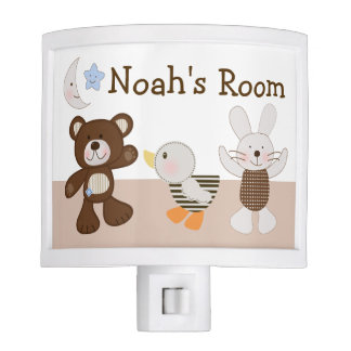 """Personalized """"B is for Bear/Bunny"""" Night Light"""