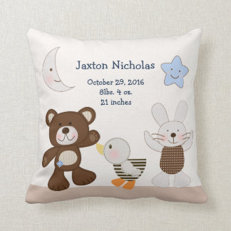 Personalized B is for Bear/Teddy Bear Keepsake Throw Pillow