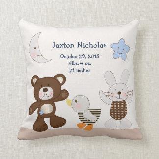 Personalized B is for Bear/Teddy Bear Keepsake Throw Pillow