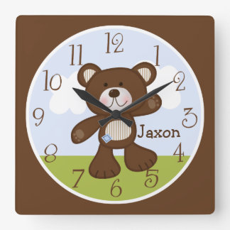 Personalized B is for Bear/Teddy Bear Kids Clock