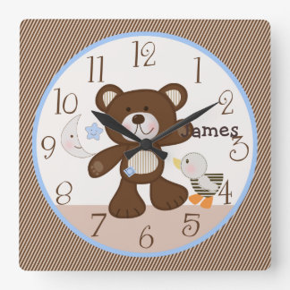 Personalized B is for Bear/Teddy Nursery Clock