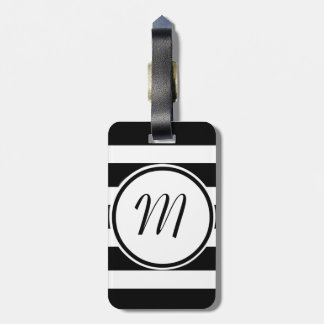 Personalized B&W Luggage Tags