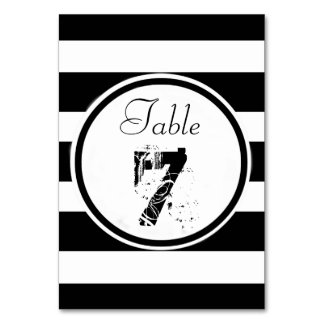 Personalized B&W Wedding Table Cards
