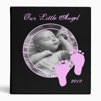 Personalized Baby Album - For Girl 3 Ring Binder