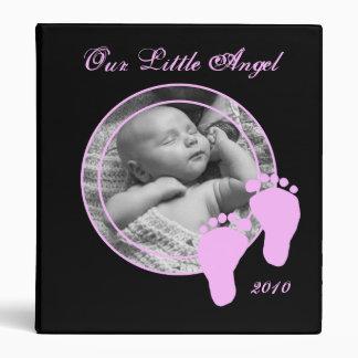 Personalized Baby Album - For Girl Vinyl Binder