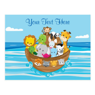 Personalized | Baby Animals | Noah's Ark Theme Postcard