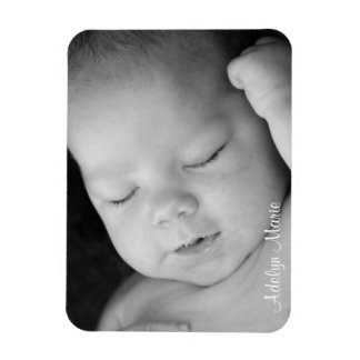 Personalized Baby Announcement Photo Magnet