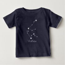 Personalized Baby Aquarius Zodiac Constellation Baby T-Shirt