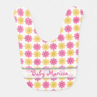 Personalized Baby Bib | Pretty Floral Pattern