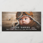 """Personalized Baby Birth Announcement Photo Card<br><div class=""""desc"""">Personalized baby birth announcement photo cards ideal for baby boys and girls. Add your custom photo and text.</div>"""