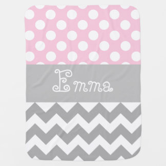 Personalized baby blanket in pink