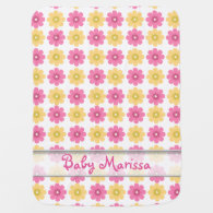 Personalized Baby Blankets | Pretty Floral Pattern