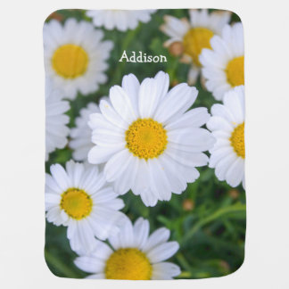 Personalized Baby Blankets With Daisy Add Photo