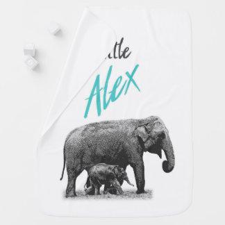 "Personalized Baby Boy Blanket ""Little Alex"""