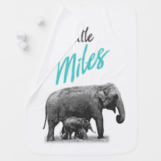 """Personalized Baby Boy Blanket """"Little Miles"""""""