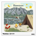Personalized Baby Boy Campfires and Foxes Wall Sticker