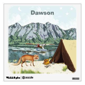 Personalized Baby Boy Camping Sneeky Fox Wall Sticker