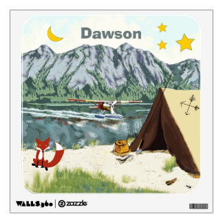 Personalized Baby Boy Camping Under the Stars Wall Sticker