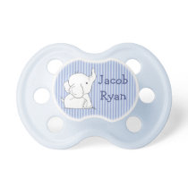 Personalized Baby Boy Elephant in Diaper Pacifier