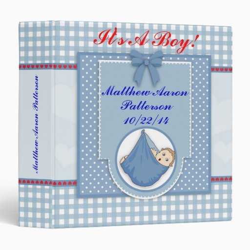 personalized baby boy photo album binder