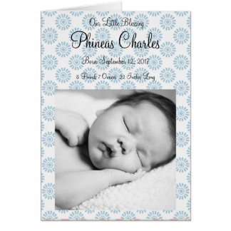Personalized Baby Boy Photo Birth Announcement