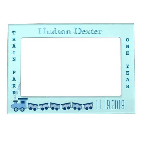 Personalized gifts for a baby boy personalized gifts for baby boy blue train photo frame negle Gallery