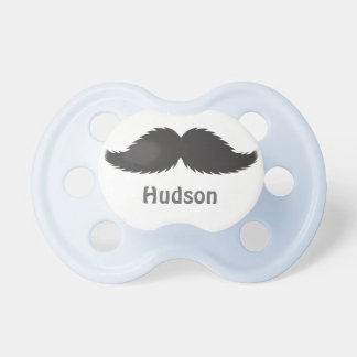 Personalized Baby Boy Shower Mustache Gift Present Pacifier