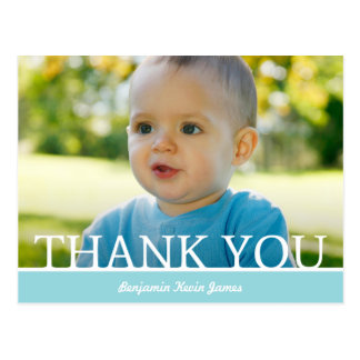 Personalized Baby Boy Thank You Card - 4.25 x 5.6