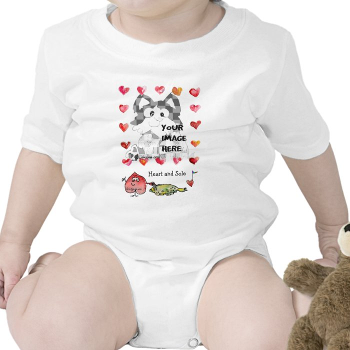 Personalized Baby Cartoon Hearts T Shirts