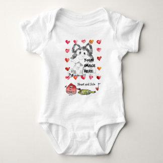 Personalized Baby Cartoon Hearts Tee Shirts