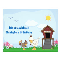 Personalized Baby Chick 1st Birthday Invitation