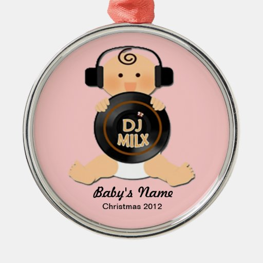 Personalized Baby DJ Christmas Ornament