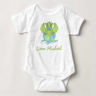 Personalized Baby Dragon Jersey Bodysuit