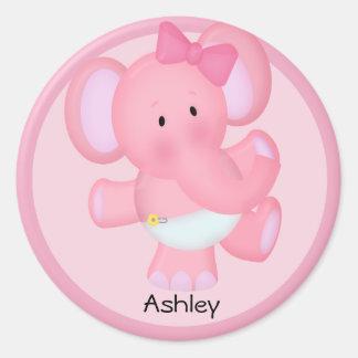 Personalized Baby Elephant Sticker